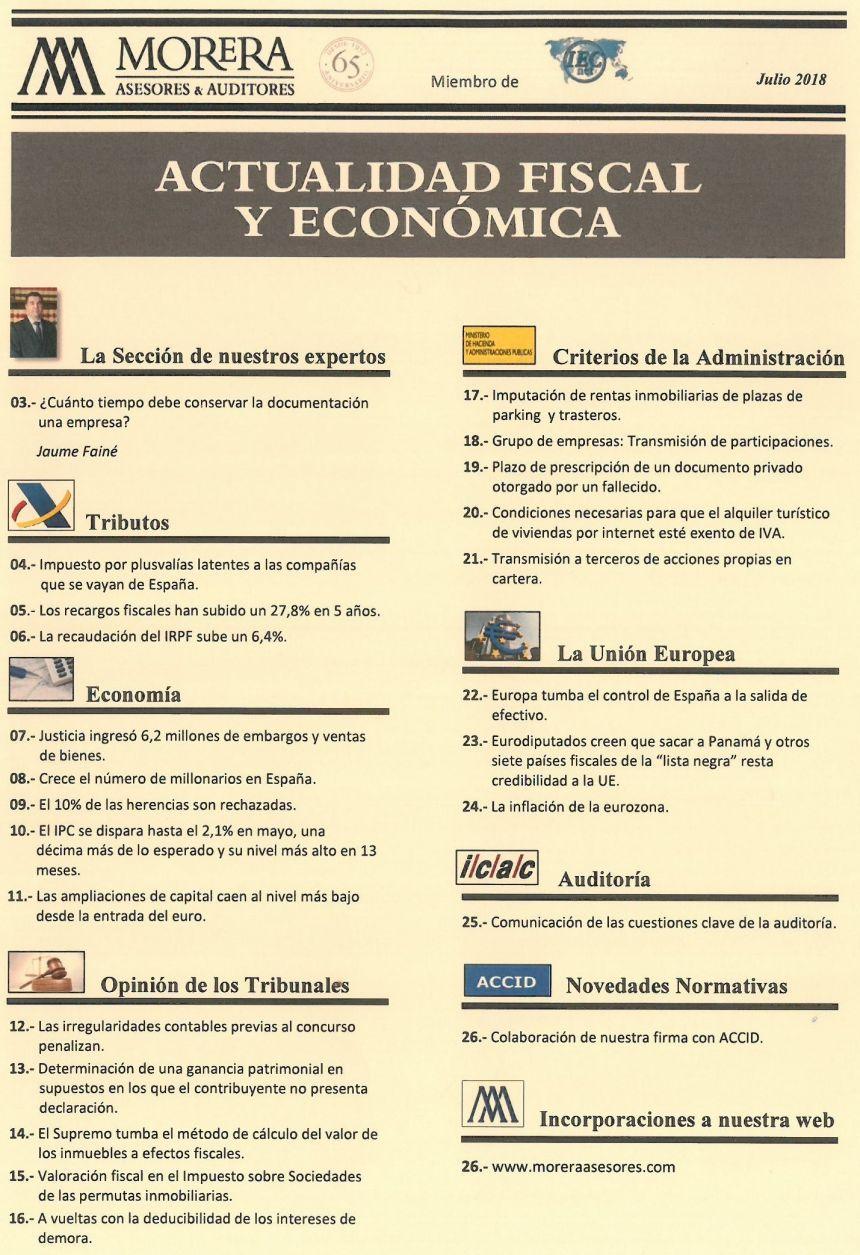 Revista Julio-18 Morera Asesores & Auditores