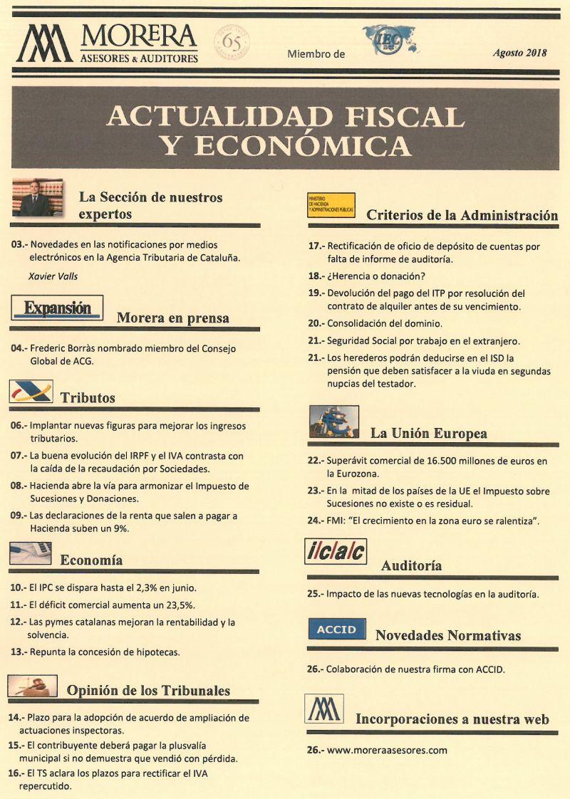 Revista Agosto-18 Morera Asesores & Auditores