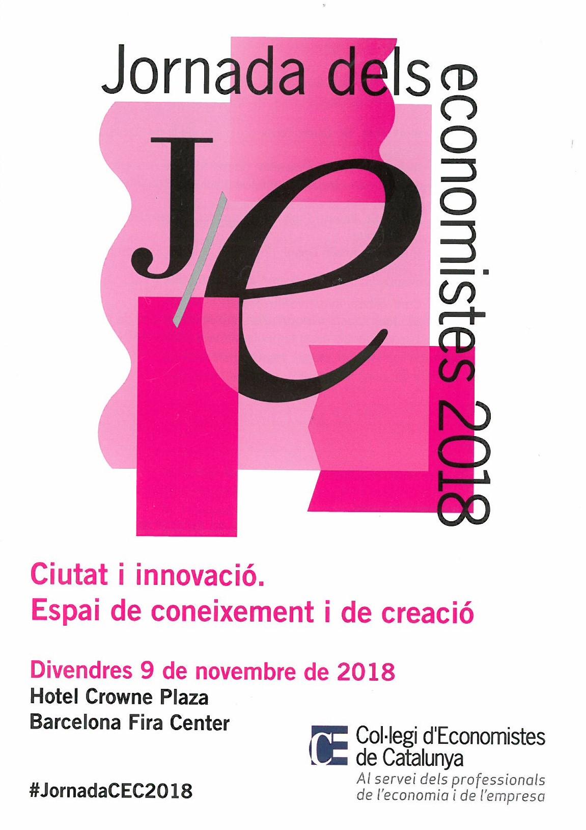 Ciutat i innovació Jornada dels economistes 2018