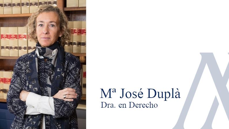 Maria Jose Dupla, Dra. en Derecho