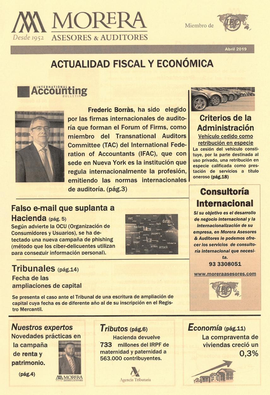 Revista Morera Asesores & Auditores Abril 2019