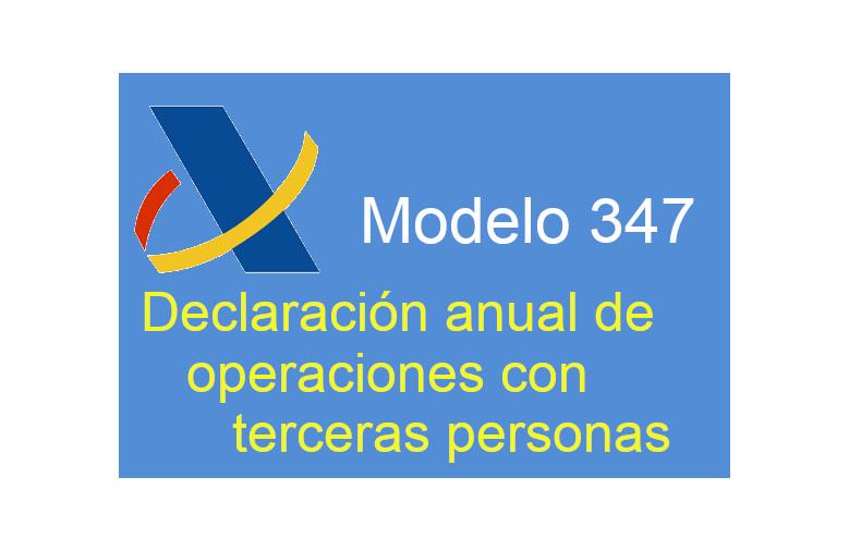 Tabla útil de operaciones declarables: Modelo 347